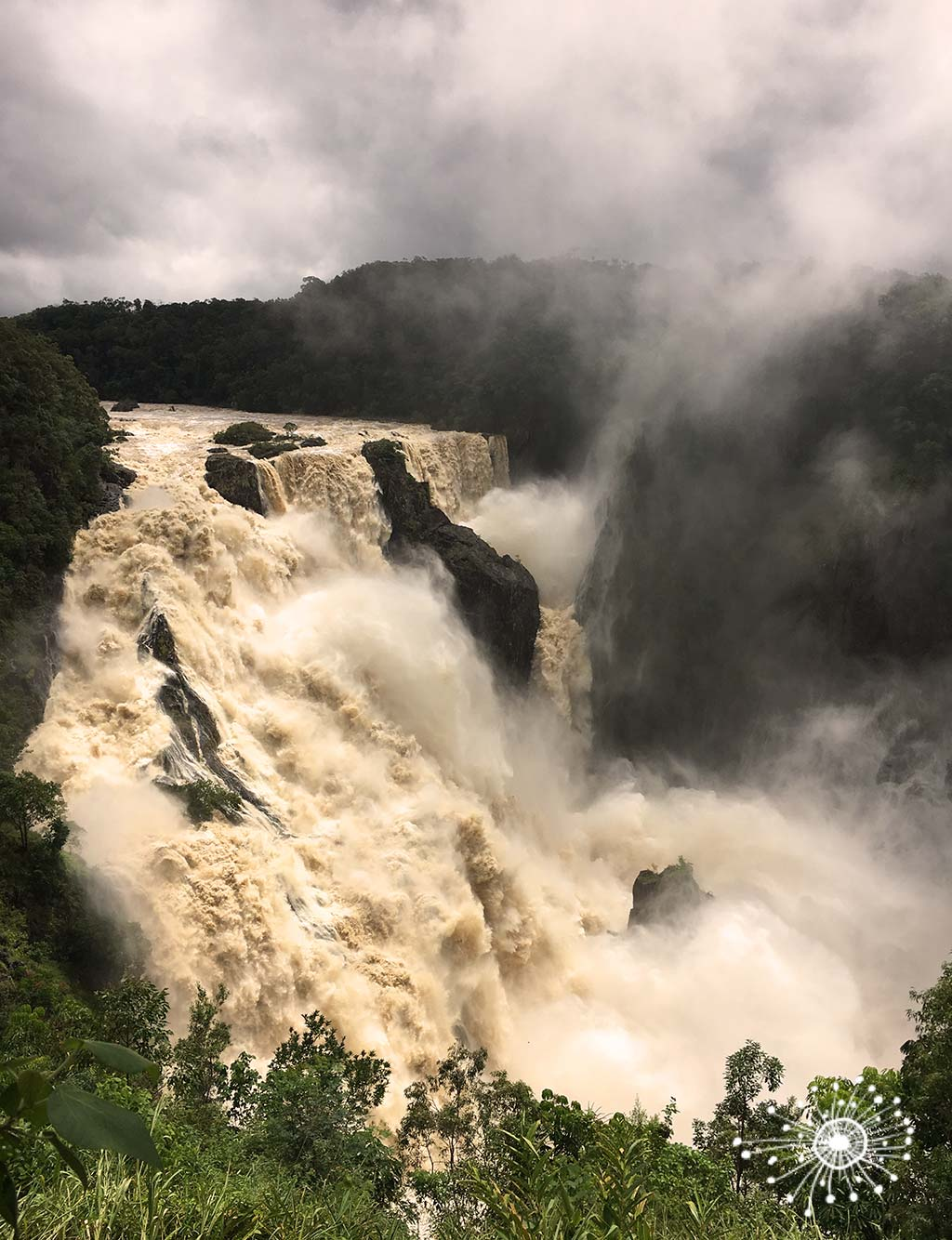 The Barron Falls in the Barron Gorge National Park